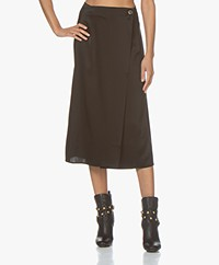 Filippa K Alba Satin Skirt - Black