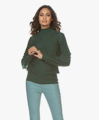 Plein Publique La Lumiere Pompon Turtleneck Sweater - Dark Green