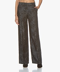 Equipment Arwen Silk Blend Jacquard Pants - Black Multi