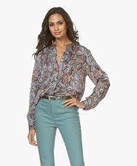 Repeat Silk Paisley Print Blouse - Ethno