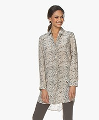 Equipment Essential Silk Shirt Dress - Snake Print