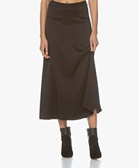 Vanessa Bruno Marie Satin Midi Skirt - Black