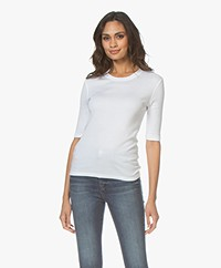 Closed Modalmix Rib T-shirt - Wit