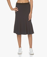 By Malene Birger Tassia Jersey Ruffle Skirt - Night Sky