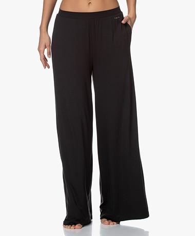 Calvin Klein Modal Jersey Palazzo Sleep Pants - Black