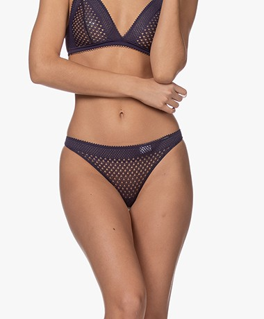 Calvin Klein Lace Thong - Midnight Dragon