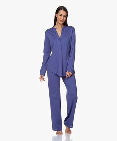 HANRO Cotton Deluxe Long Sleeve Pajama Set - Wisteria