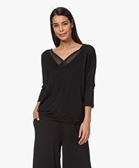 Calvin Klein T-shirt in Modal Jersey - Zwart