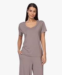 Calvin Klein Modal V-hals Lounge T-shirt - Chai Latte