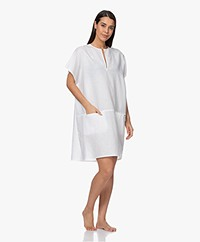 Calvin Klein Linen Blend Kaftan - White