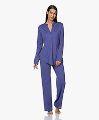 HANRO Cotton Deluxe Long Sleeve Pajama Set - Wisteria