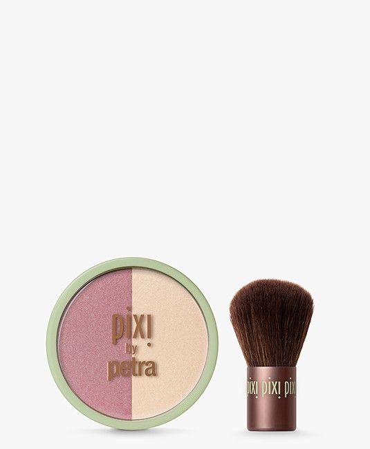 Pixi Beauty Blush Duo + Kabuki - Rose/Gold