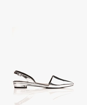 Matt & Nat Cory Sling Back Sandals - Silver