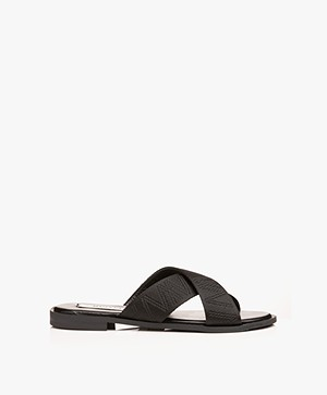 Matt & Nat Emilia Cross-over Slipper Sandals - Black