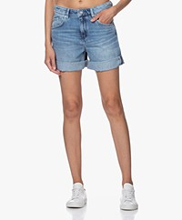 Drykorn Lap Denim Short - Middenblauw