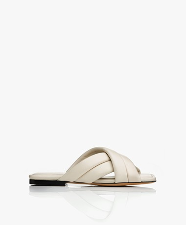 ANINE BING Eve Leather Sandals - Ivory