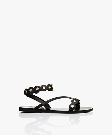 Ancient Greek Sandals Opsi Leather Sandals - Black