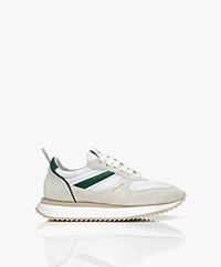 Copenhagen Studios Leren Chunky Sneakers - Lichtgrijs/Groen