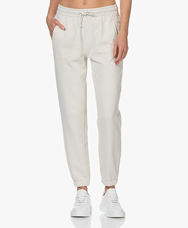 Drykorn Once French Terry Cotton Sweatpants - Off-white