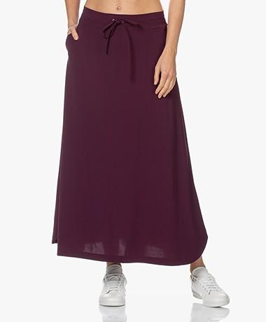 JapanTKY Ruby Travel Jersey A-line Skirt - Burgundy