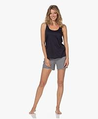 HANRO Laura Modalmix Jersey Pyjama Set - Midnight Stripe