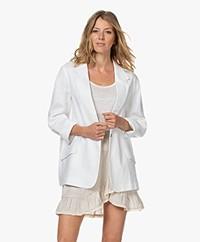Resort Finest Laura Pure Linen Blazer - White