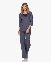 HANRO Eileen Katoenen Pyjama - Lava Rock