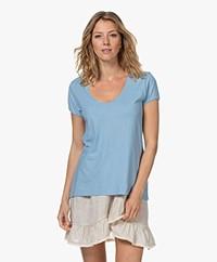 Drykorn Avivi Slub Jersey T-shirt - Blauw