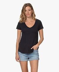 American Vintage Jacksonville V-hals T-shirt - Navy