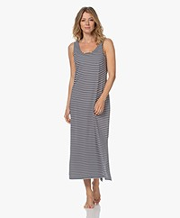HANRO Laura Striped Jersey Maxi Dress - Midnight Stripe