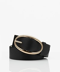 Vanessa Bruno Leather Belt - Black
