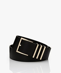 ANINE BING Leather Andrea Belt  - Black