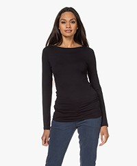 Majestic Filatures Soft Touch Boothals Longsleeve - Marine