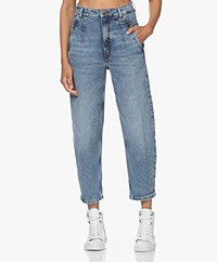Drykorn Mind Relaxed-fit Cropped Jeans - Medium Blue