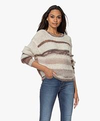 Pomandère Mohair-Silk Blend Striped Sweater - Milk