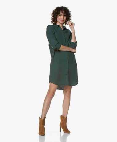 by-bar Dali Lyocell Twill Shirt Dress - Dark Green