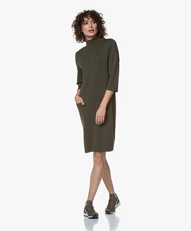 LaSalle Milano Knitted Turtleneck Dress - Green