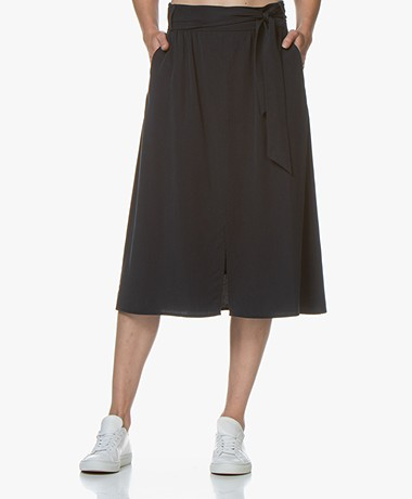 Josephine & Co Garry Viscose Paperbag Skirt - Navy