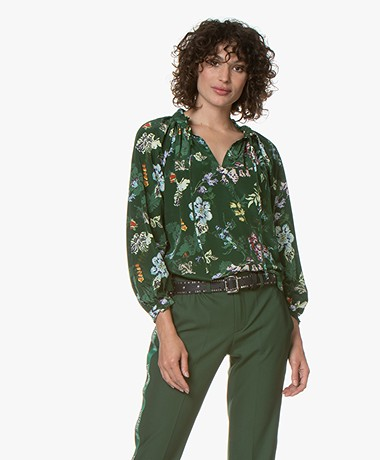 Zadig & Voltaire Theresa Silk Printed Blouse - Officier