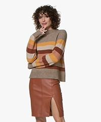 indi & cold Striped Wool Blend Sweater - Mostaza
