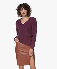 MKT Studio Konica Rib V-neck Sweater - Amethyste