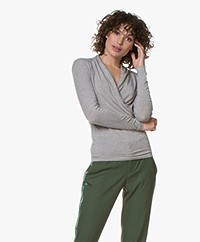 Belluna Benjamin Modal Wrap Long Sleeve - Greige