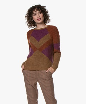 MKT Studio Koumad Color Block Trui - Camel