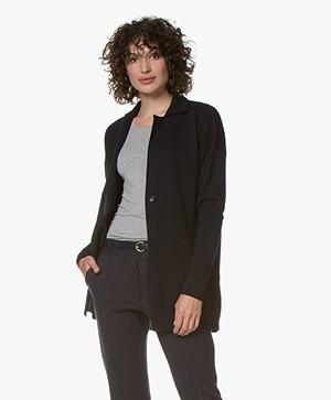 Belluna Alfiero Milano Wool Blend Cardigan - Navy
