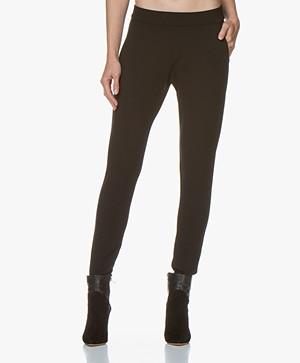 Woman by Earn Bobbi Punto di Roma Slim-fit Pants - Black