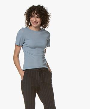 Filippa K Merino Wool T-shirt - Frosty Blue