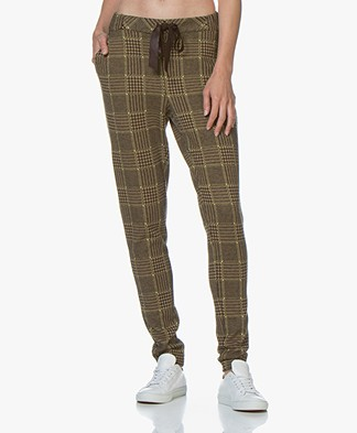 Josephine & Co Geena Checkered Sweatpants - Golden Yellow