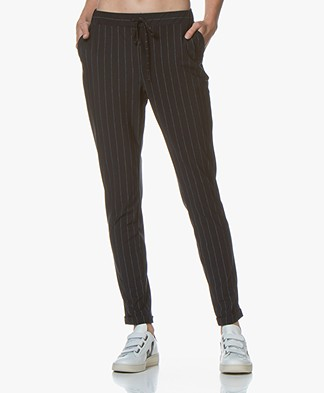 Josephine & Co Gian Striped Travel Jersey Pants - Navy
