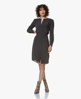 by-bar June Viscose Crepe Dress - Midnight