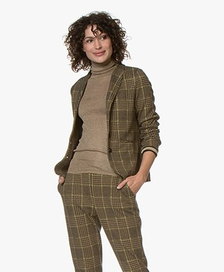 Josephine & Co Giulio Checkered Blazer - Golden Yellow